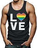Love (Rainbow Heart) - Gay & Lesbian Men's Tank Top T-shirt