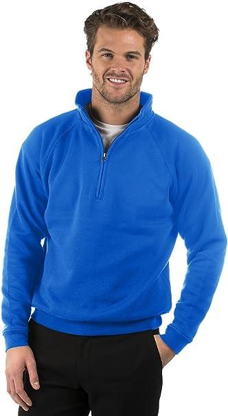 Quality Soft Fabric Size  XS to XXXL, Red  Quarter Zip Sweat Jacket