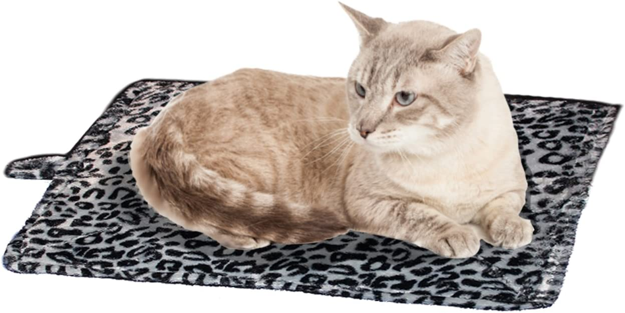 Cat Bed - Purrfect Thermal Cat Mat Leapord Prints (Gray Leopard) : Pet Supplies