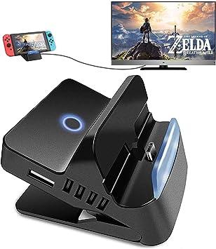 Quartet Trade - Base de conexión para Nintendo Switch TV Dock Station, Adaptador Compacto a HDMI, Puerto de conmutación portátil con Puerto USB 3.0 (versión Bluetooth): Amazon.es: Electrónica