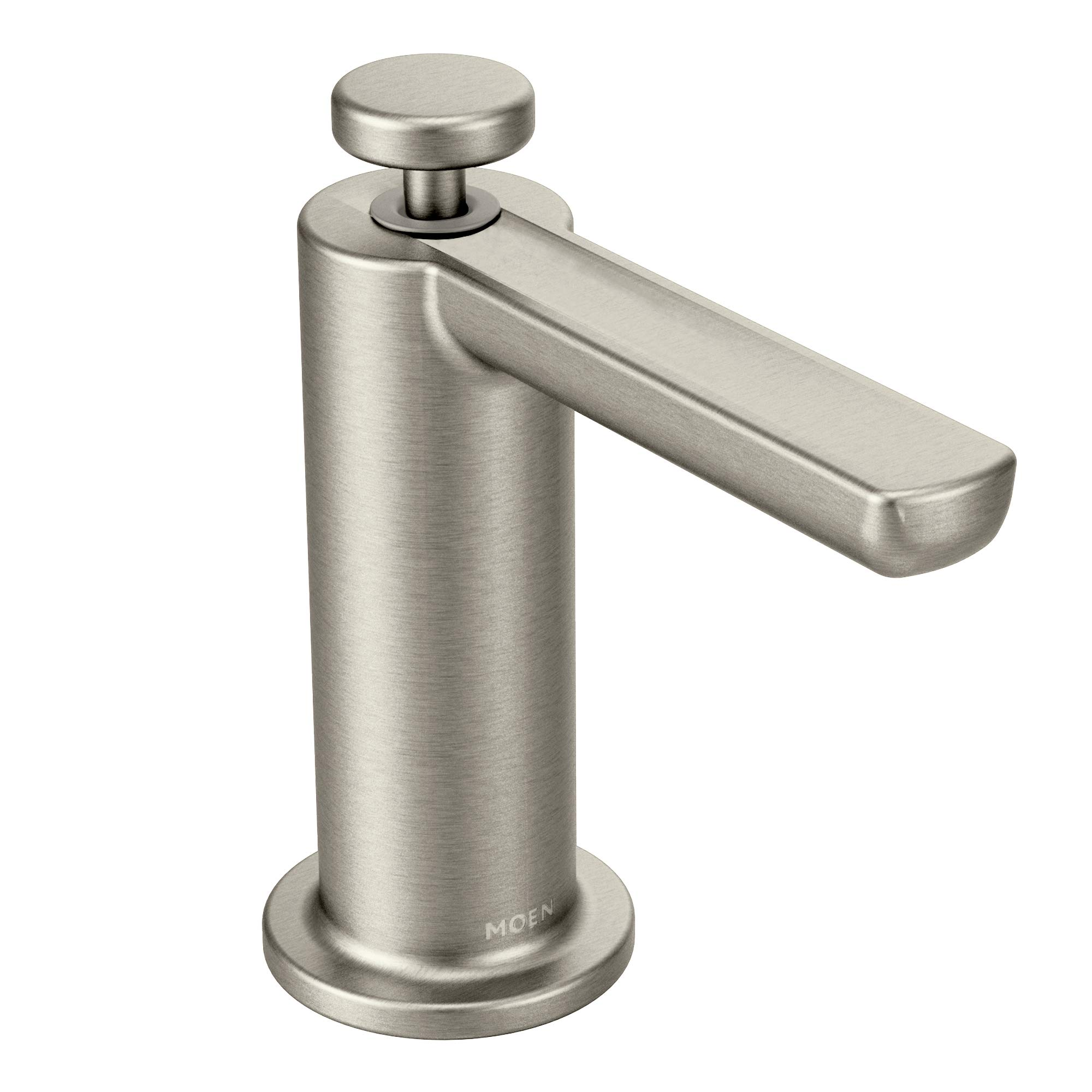 Moen S3947SRS Modern Deck Mounted Kitchen Soap Dispenser with Above the Sink Refillable Bottle, Spot Resist Stainless