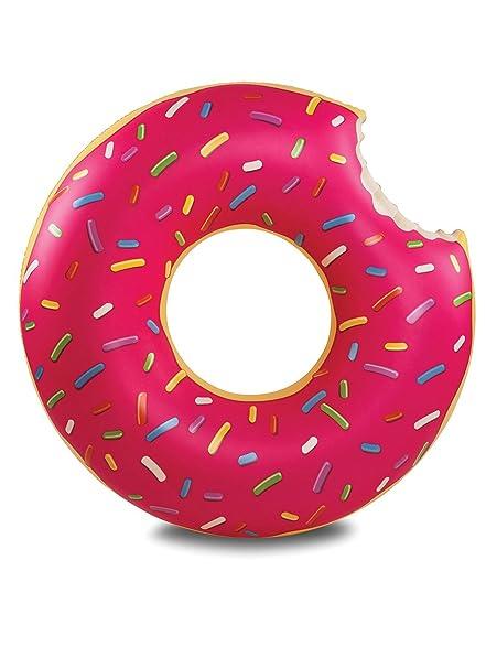 LA VAGUE Donut Flotador de Piscina, Rosa (Multicolor), Única