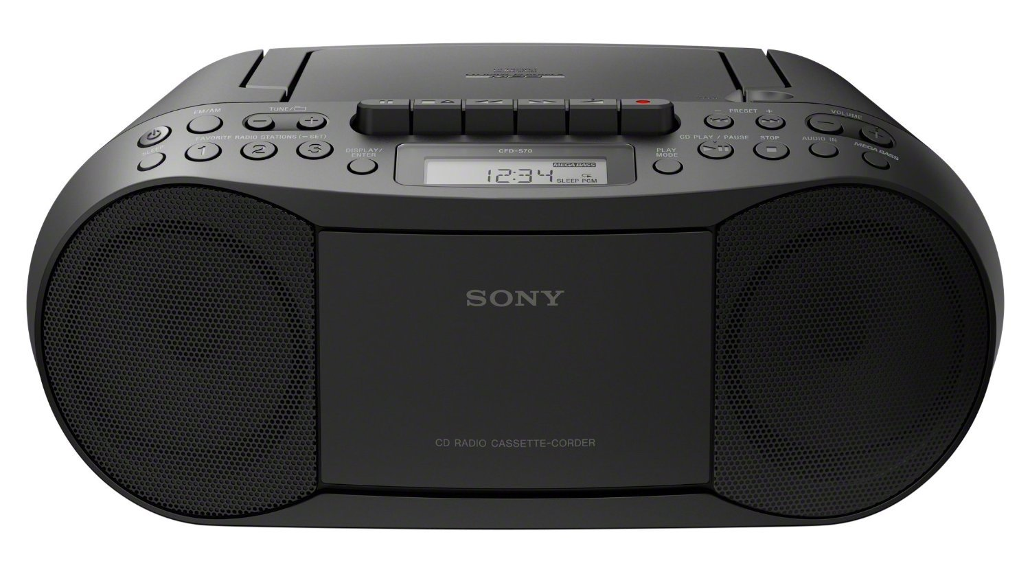 SONY CFD-S70 Portable CD Cassette Boombox (Certified Refurbished)