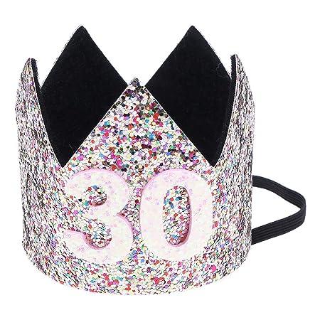 Amosfun - Corona de 30 cumpleaños para Fiesta de cumpleaños ...