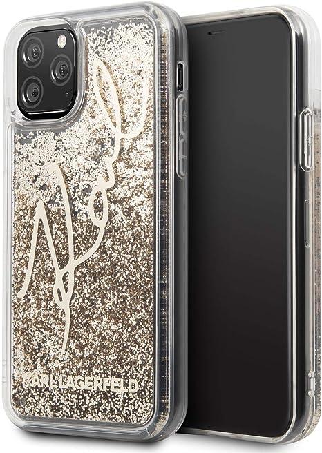 Carcasa Karl Lagerfeld Signature Liquid Glitter para iPhone 11 Pro
