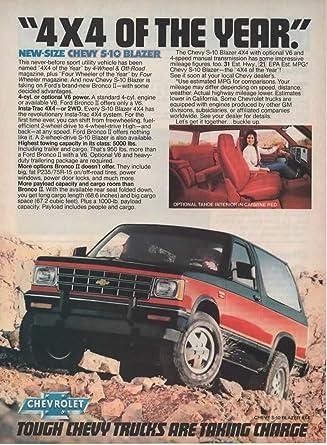 Amazon Magazine Print Ad Blackred 1983 Chevy S 10 Blazer4 X