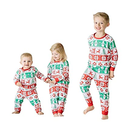 hkfv amazing festive merry christmas style wearing decoration christmas pattern pyjama for baby kids toddler kids
