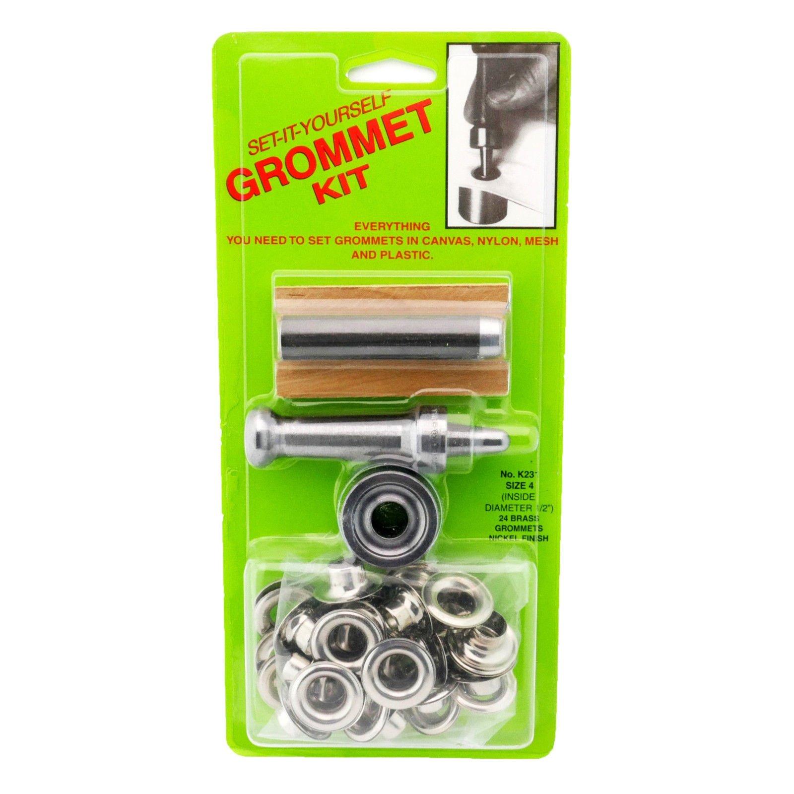 C.S. Osborne Set-It-Yourself Grommet Kit K231-4, 1/2'' Hole, W/Nickel Grommets by C.S. Osborne