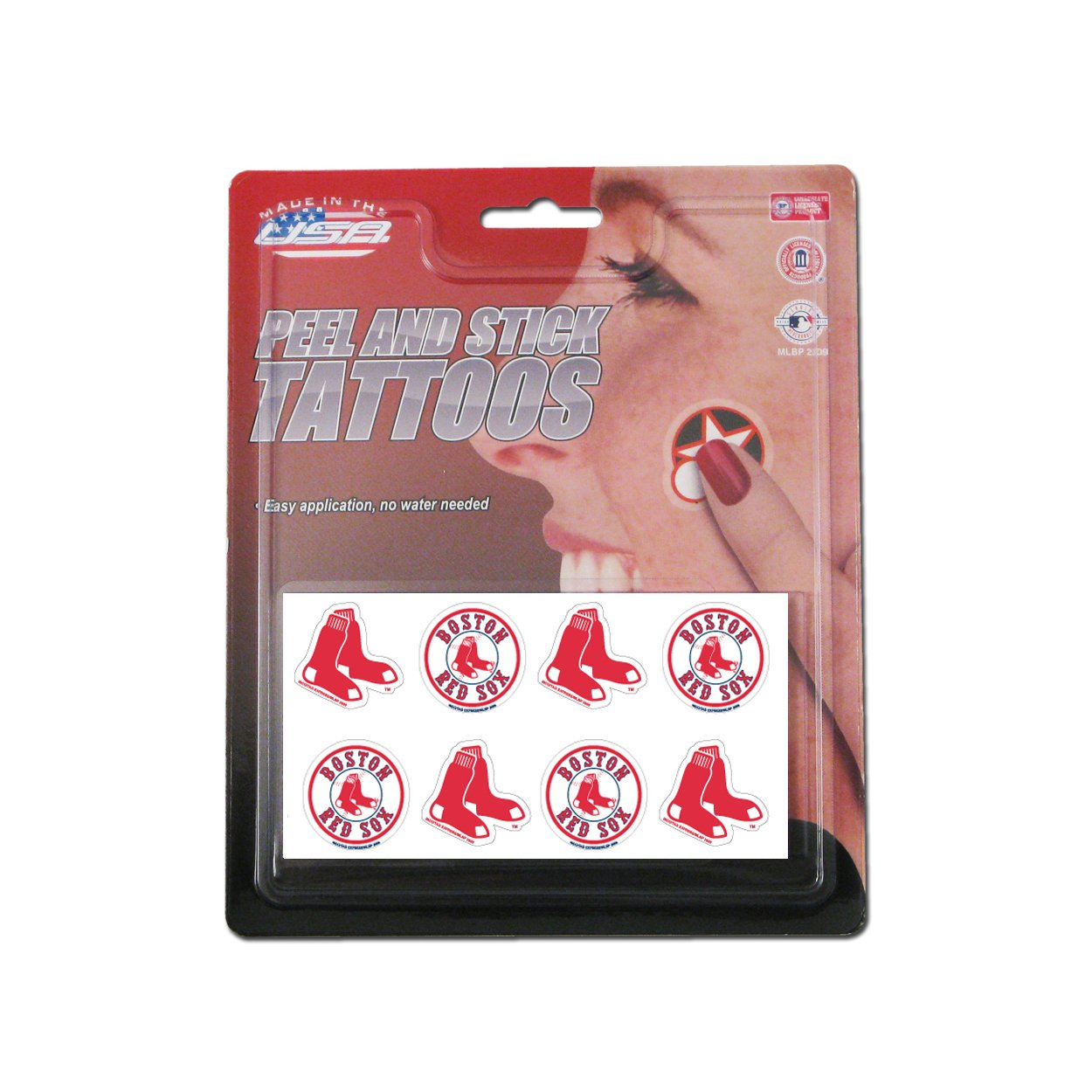 Rico MLB Boston Red Sox Products MLB Temporary Tattoos Boston Red Sox, Black, Small by Rico (Image #1)