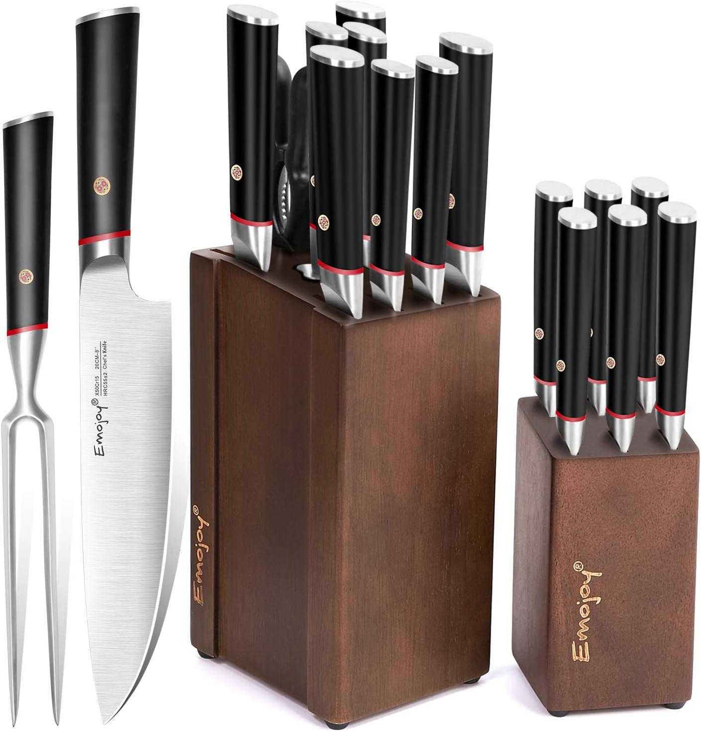 Kitchen Knife Set with Craving Fork. Buy kitchen knife set online under $100