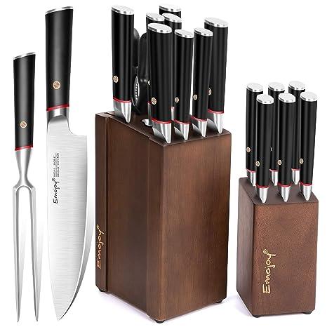 Amazon.com: Juego de cuchillos de cocina con tenedor de ...