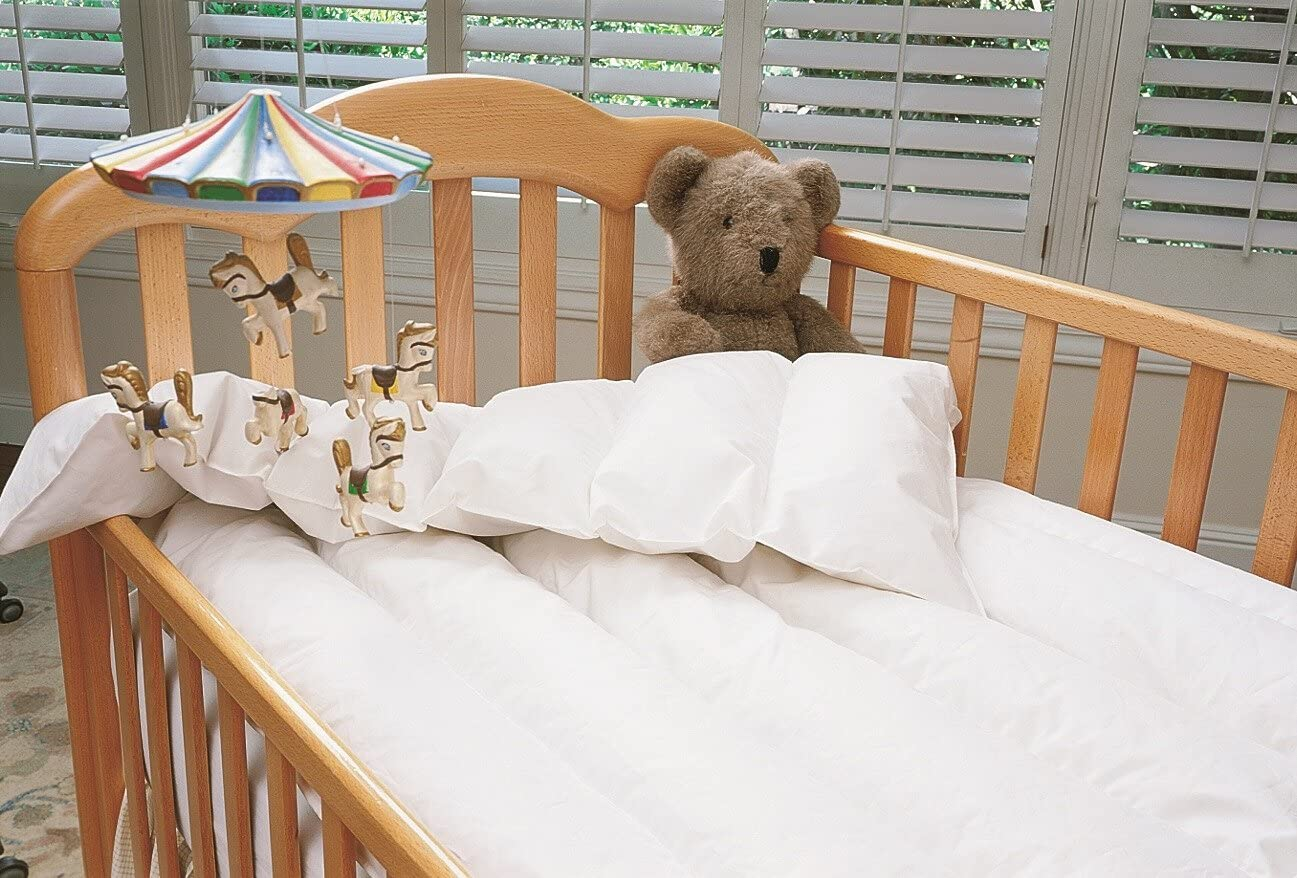 B000B897R8 Just for Baby White Down Comforter White Crib 71BiQRIcgyL.SL1297_