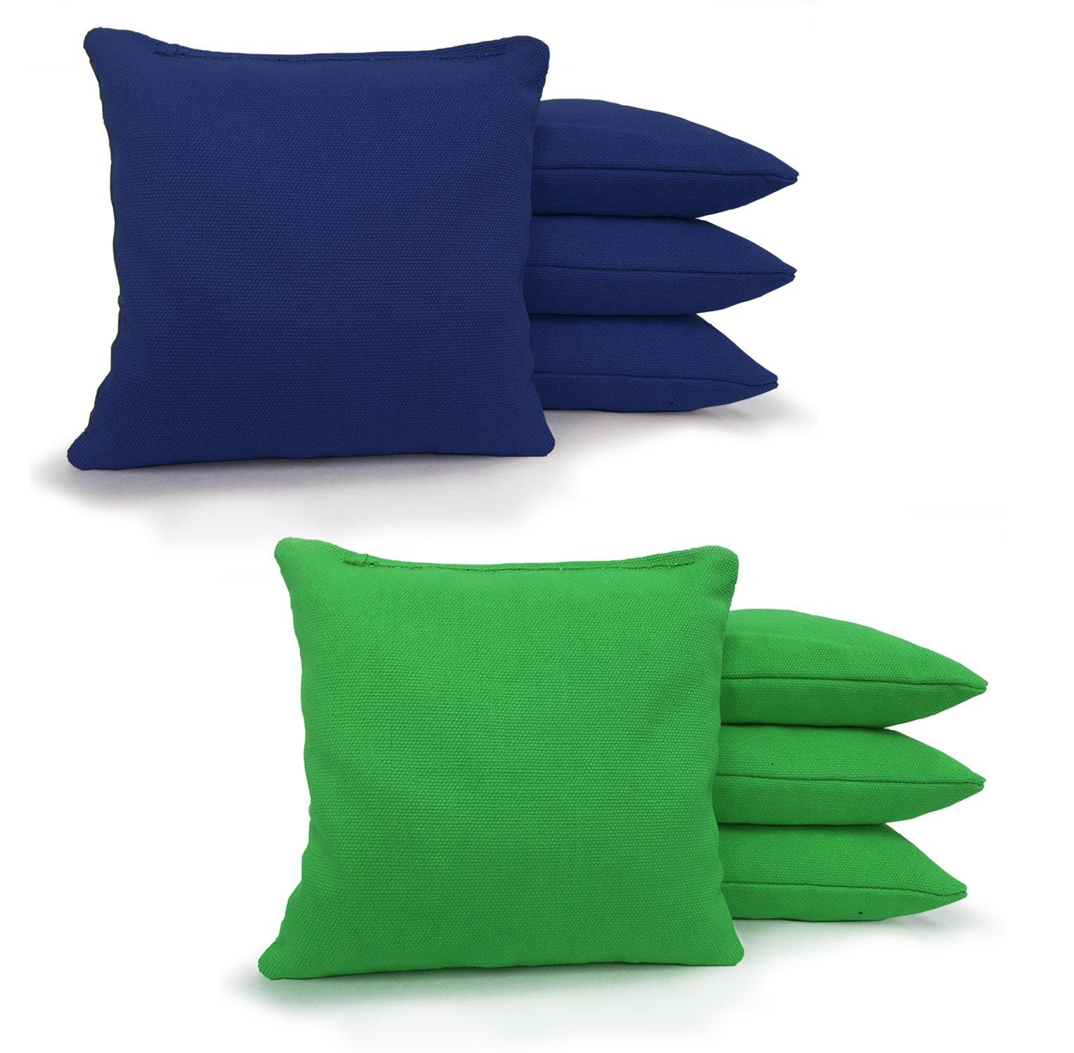 8 Standard Corn Filled Regulation Duck Cloth Cornhole Bags! 17 COLORS (YOU PICK)!! (Kelly Green/Royal Blue) by Johnson Enterprises, LLC