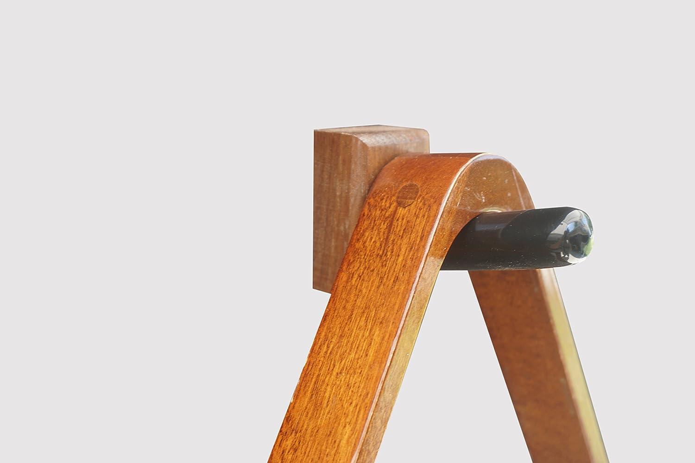 KR Ideas 標準プール&ビリヤードラックホルダー (アメリカ製) ブラウン B07F24LWWJ  ウォールナット