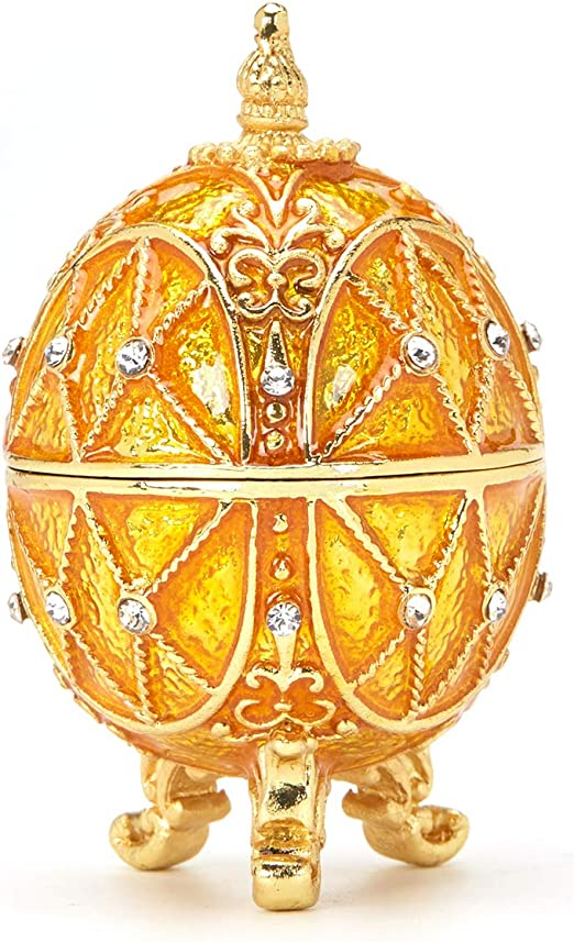 Metal Exquisite Gold Faberge Egg for Home Decoration