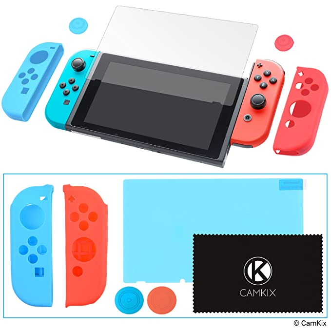 26 opinioni per CamKix Kit Grip e Protezione compatibile con Nintendo Switch: 2x Cover Joy Con,