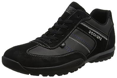 36ht001-204100, Sneakers Basses homme, Noir (Schwarz 100), 41 EUDockers by Gerli