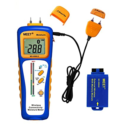 Meet Wireless Connectivity Moisture Meter, Wood, Walls, Ceilings, Carpet Moisture Humidity Detector