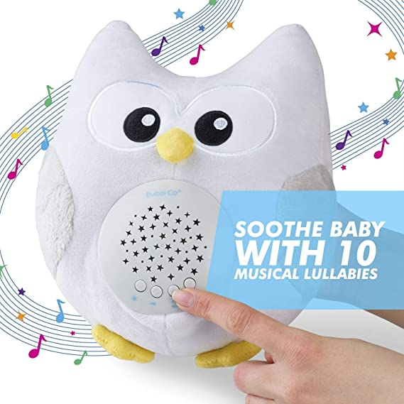 Bubzi Co Baby Toys Owl White Noise Sound Machine, Toddler Sleep Aid Night Light, Unique Baby Girl Gifts & Baby Boy Gifts, Woodland Baby Shower, ...