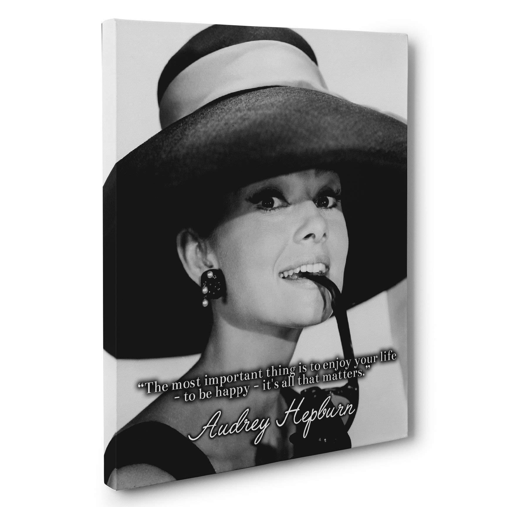 Audrey Hepburn Motivation Quote Canvas Wall Art