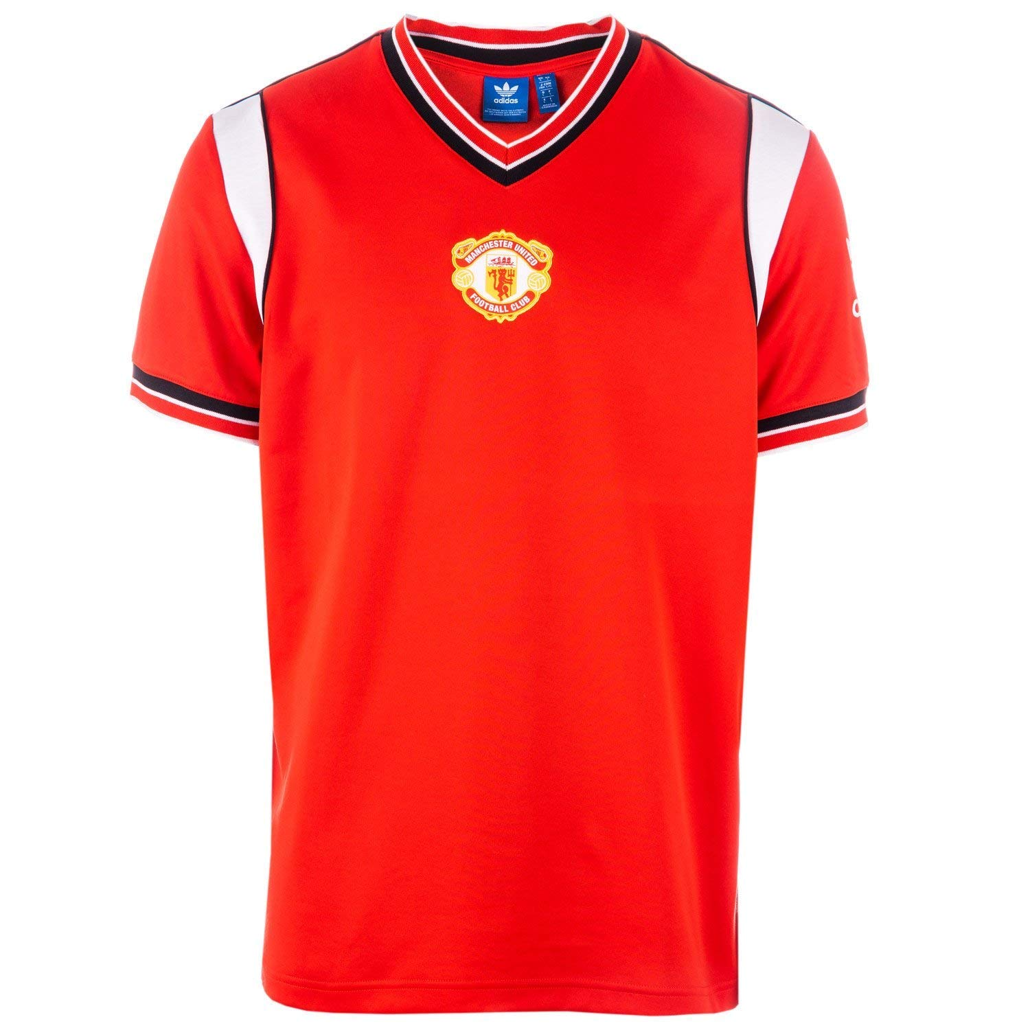 timeless design 2ba27 50fcb adidas Originals Mens Manchester United 85 Home Jersey in Red