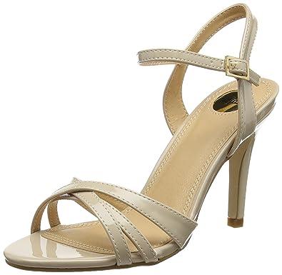 Buffalo Shoes Damen 312703 PATENT PU Knöchelriemchen, (BEIGE 01), 36 EU 138c55e6b9