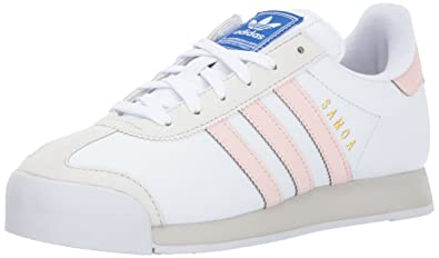 adidas Originals Women's Samoa Sneakers, White/Ice Pink/Talc, (10 M