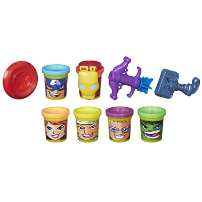 Play-Doh Marvel Heroes Assemble with Can-Heads: Toys & Games