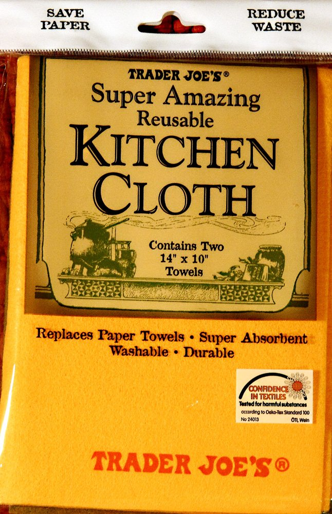 Trader Joe's Reusable KITCHEN CLOTH - Two 14x10 Towels Trader Joe' s FBA_B008ACX7IM