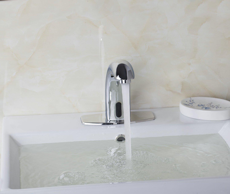 Koko Brand New Waterfall Chrome Touch Free Automatic Sensor Tap Sink ...