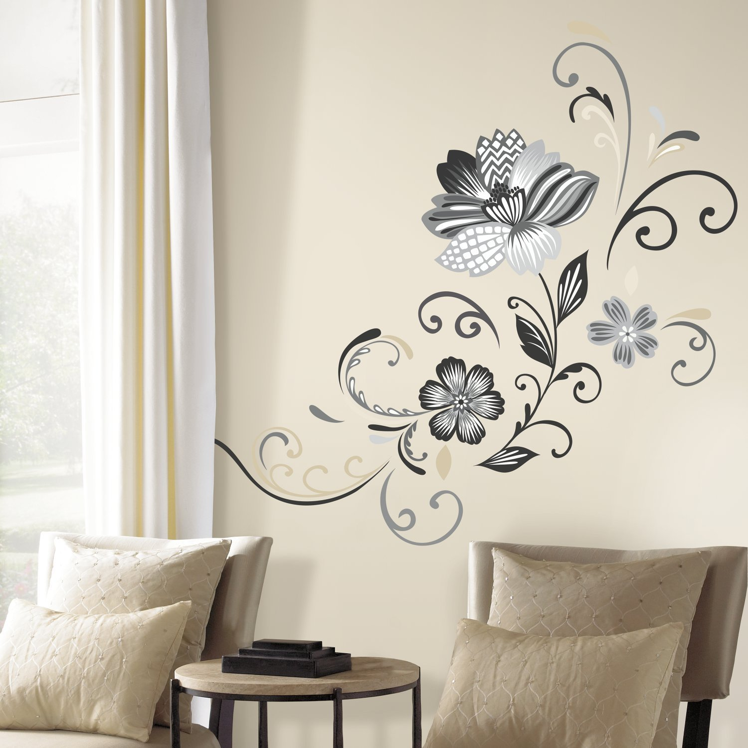 Vinilo Decorativo Pared [0P8BP2E0] flores