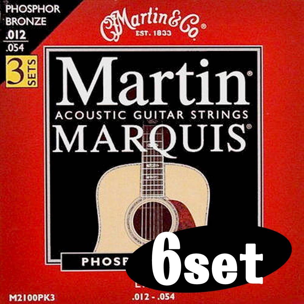 豪奢な Martin マーチン アコースティックギター弦 M-2100PK3 (ライト 012-.054 3Pack) 3Pack) x6セット (ライト【国内正規品】 012-.054 PhosphorBronze B009X4LW9C, 目梨郡:97661b96 --- martinemoeykens.com