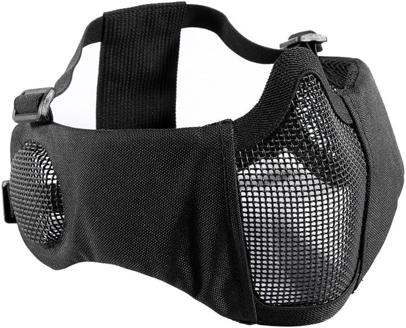 Máscara facial plegable para Airsoft, de OneTigris, de malla, con protección auditiva