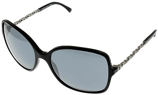 Amazon.com: Chanel Sunglasses Womens Black Square CH5210Q 501/26 ...
