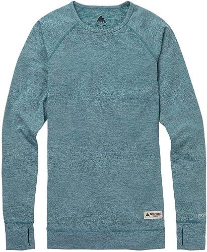 Burton Lightweight Crew Camiseta Térmica, Mujer, Verde (Balsam Heather), M: Amazon.es: Ropa y accesorios