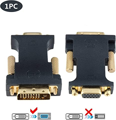 CABLEDECONN DVI to VGA, Active DVI-D 24+1 to VGA with Chip Adaptador Convertidor Cable for PC DVD Monitor HDTV