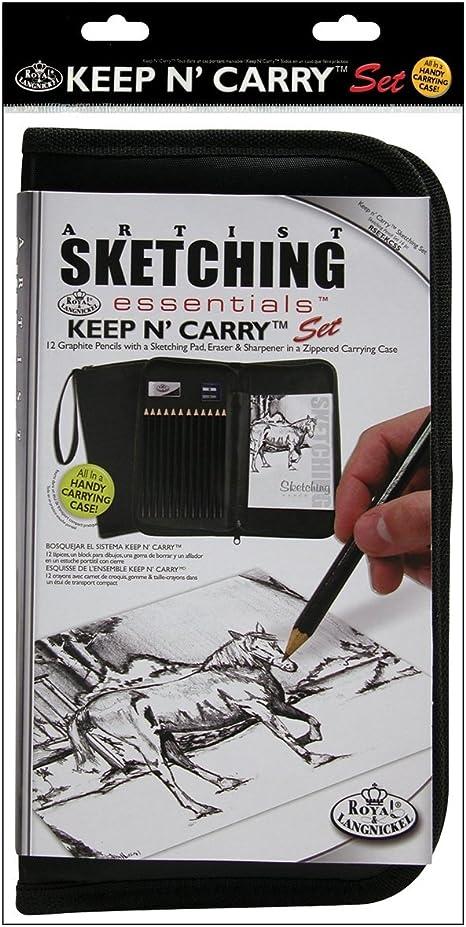 Charcoal Pencil Set Drawing Sketching Small Tin Charcoal Drawing Kit Illustration Royal /& Langnickel Advanced Charcoal Art Set