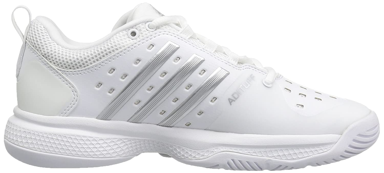 adidas Women's Barricade Classic Bounce Tennis Shoes B01H2DBGAK 6 B(M) US White/Metallic Silver/Light Solid Grey Heather