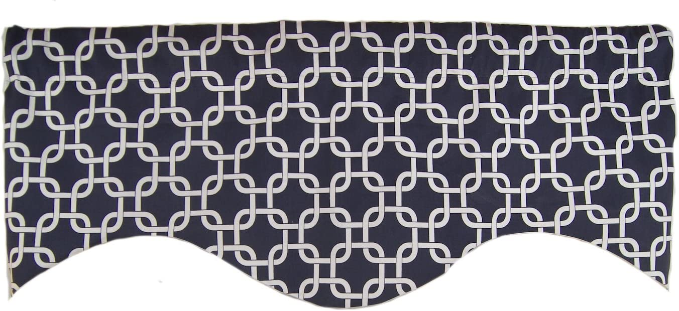 RLF Home Interlock Valance, Navy