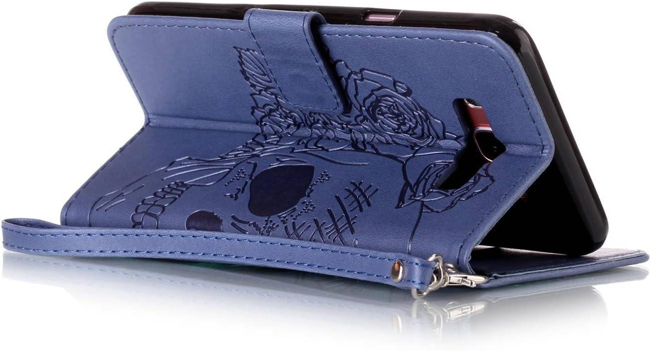 pinlu/® Haute Qualit/é Etui Avec Slot Pochette Portable Flip Wallet Housse Similicuir Portefeuille Deux c/ôt/és Design Motif Cr/âne Marron /Étui pour Sony Xperia XA