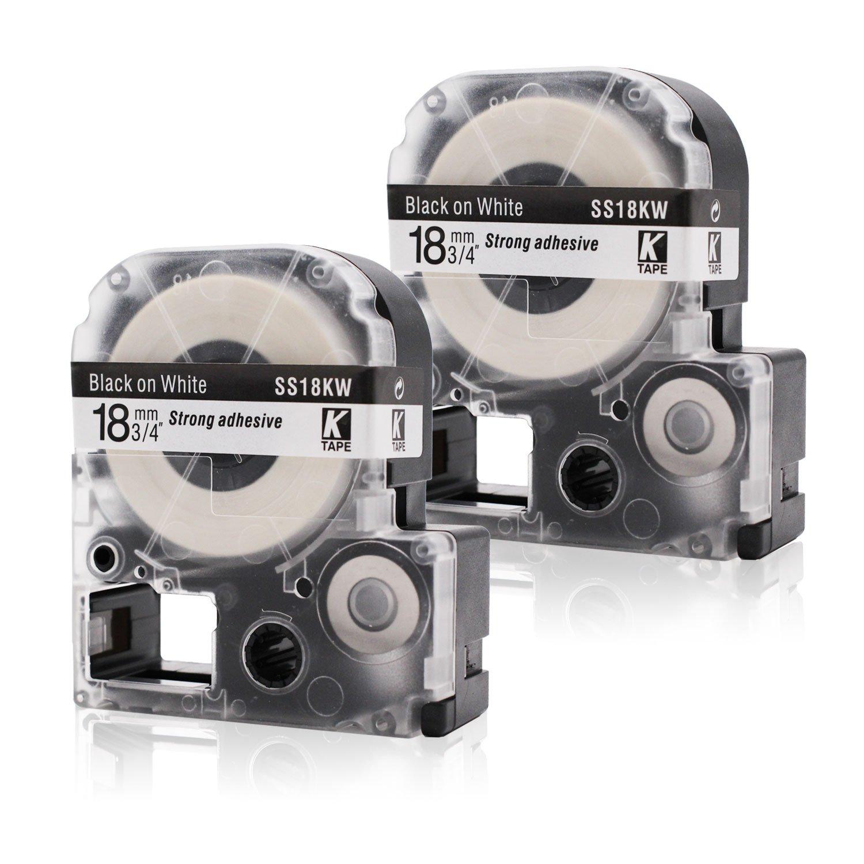 Labelwell 12mm x 8m 1//2 x 26.2 Nero su Bianco Compatibile Epson LC-4WBN9 SS12KW Nastri Etichette per Epson LabelWorks LW 300L 400 600P 500 LM-700 900P 300 700 1000P OK200 OK300 OK500P Etichettatrice