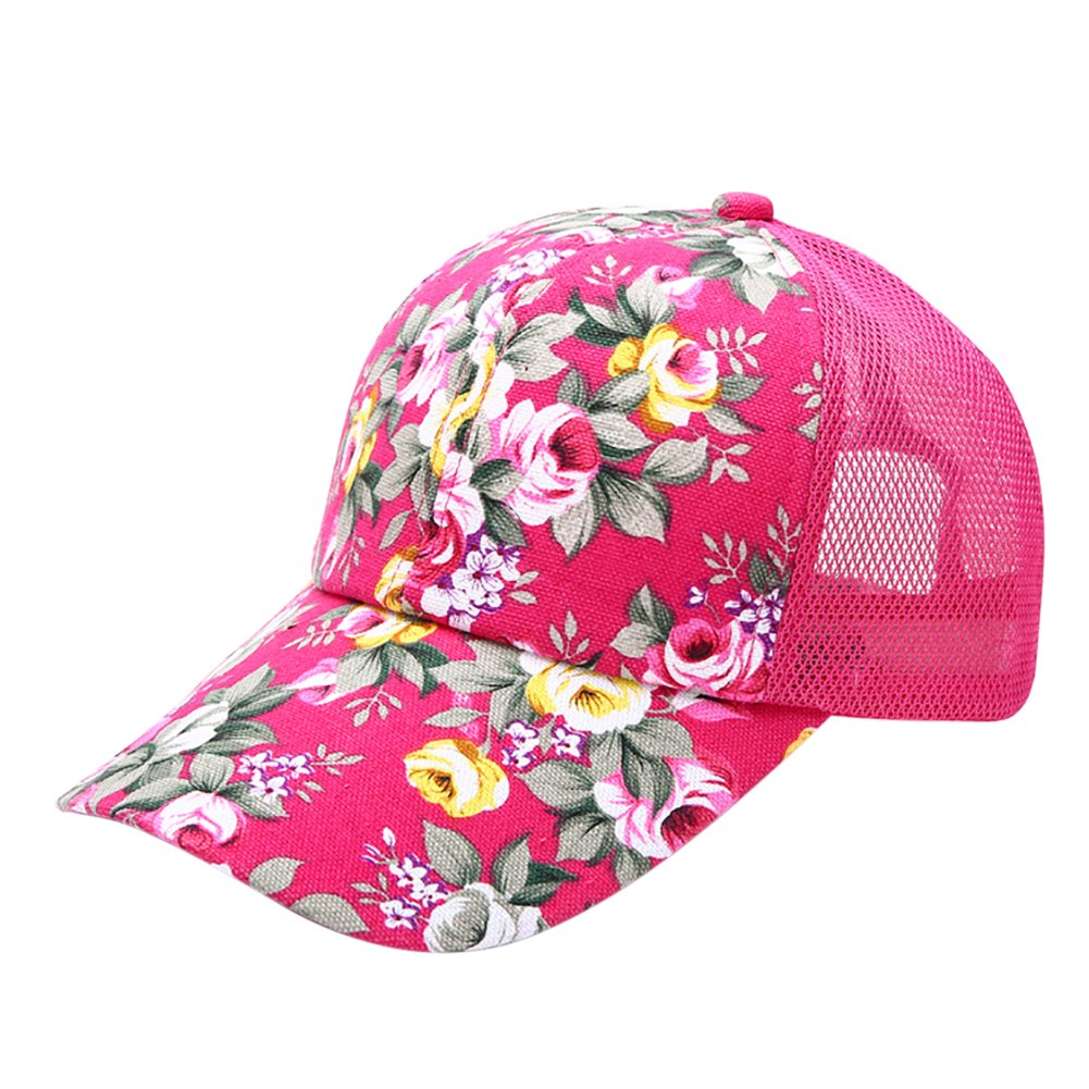 ESHOO Snapback Baseball Cap Floral Perforated Ball Caps Golf Hats Summer  Mesh Hat for Women Teens Girls 6 Colors  Amazon.co.uk  Kitchen   Home 0d1730b1c25