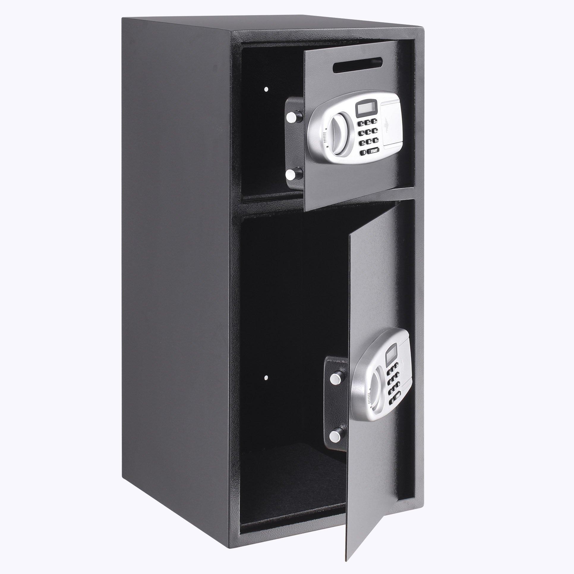 Superland Large Double Door Security Safe Box Depository Safe Steel Safe Box Digital Safe Depository for Money Gun Jewelry (Large Digital Safe Box) by Superland (Image #2)