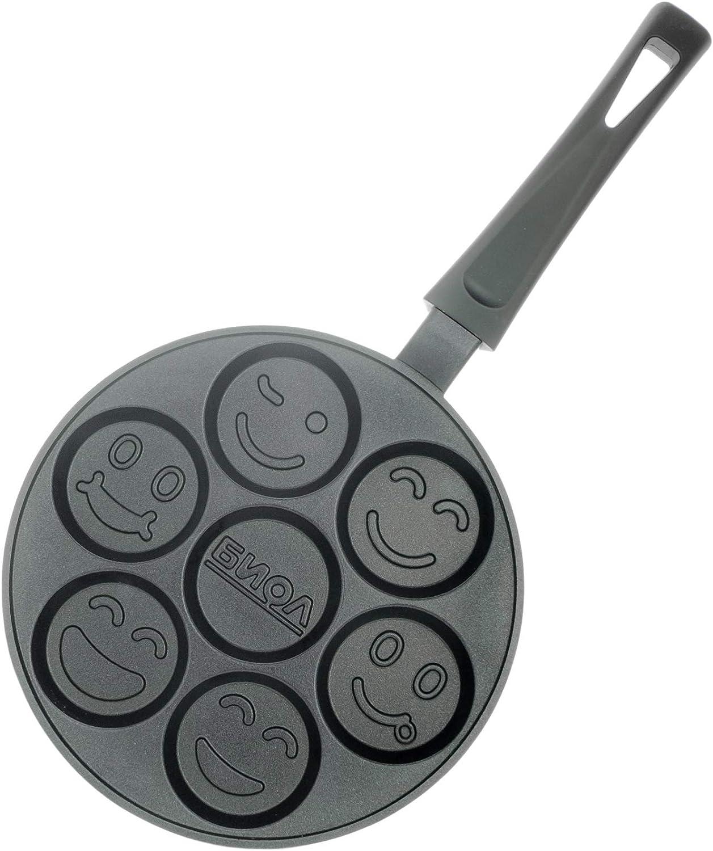 Smiley Faces–Sartén para tortitas de crepes antiadherente 24cm Biol