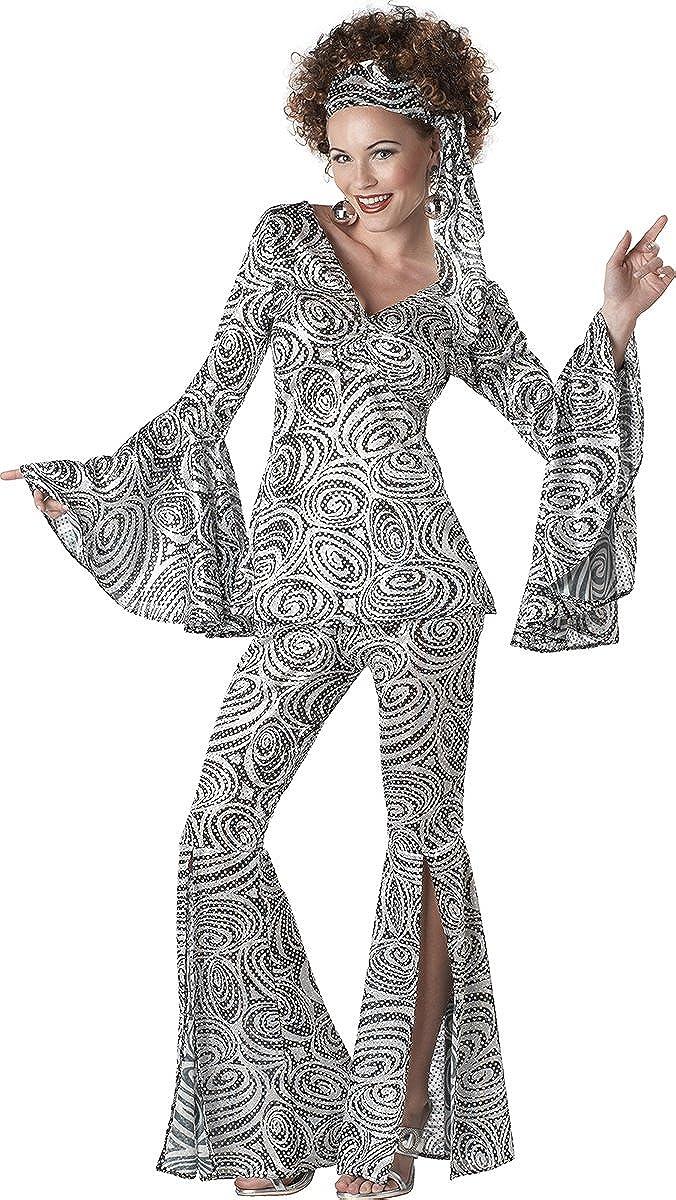 d1bb149a2383 Amazon.com: Plus Size Women's Foxy Lady Disco Dance Groovy Costume: Clothing