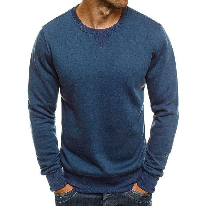 BBestseller Camiseta de Color sólido Sweatshirt Primavera Sudadera Casual para Hombre Delgada Blusa Deportivas Blusa Tops: Amazon.es: Ropa y accesorios