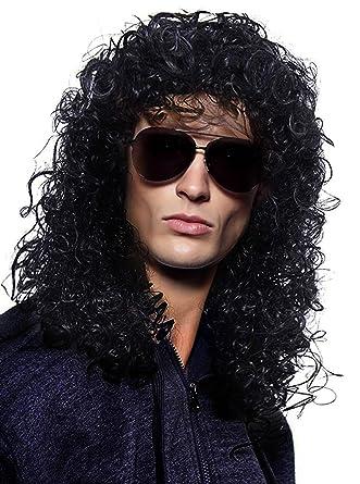 Amazon.com: Disfraz de cabello accesorio Heavy Metal Rocker ...