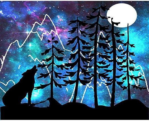 Lamamag Malen Nach Zahlen Diy Malerei By Zahlen Tiere Schwarz