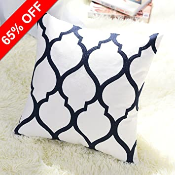 Euro Sofa Throw Pillow Cover Pony Dance Square Cotton Embroidery