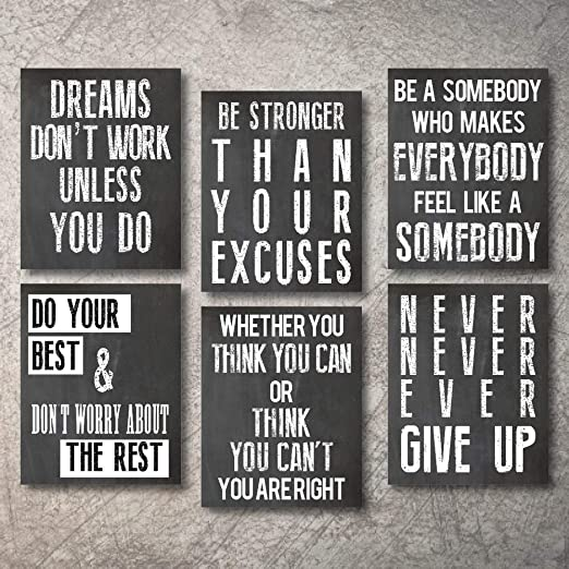 Motivational inspirational quote positive life poster picture print wall art 080